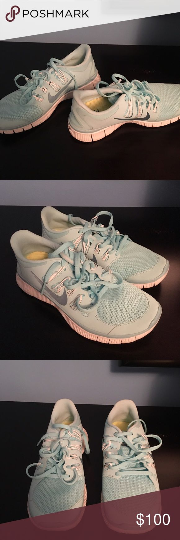 Nike free Tiffany blue--brand new size 7.5 Never been worn, size 7.5 Shoes Athletic Shoes