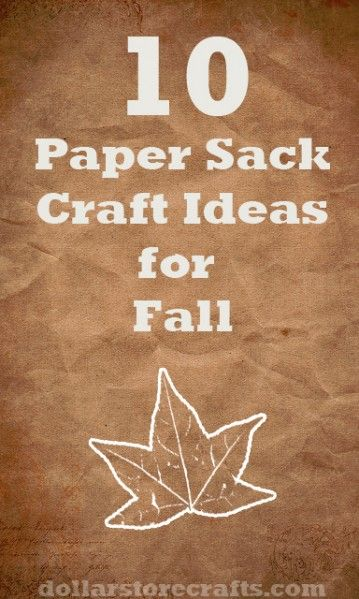 Paper Sack Craft Ideas for Halloween and Fall. Yay!!!