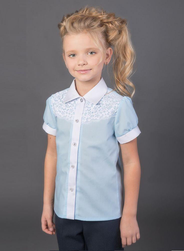 Блузка арт. 11100 голубой