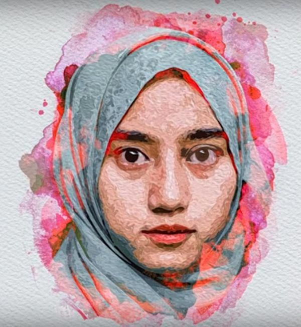 How To Create Watercolor Effect On Portrait In Photoshop Tutorial