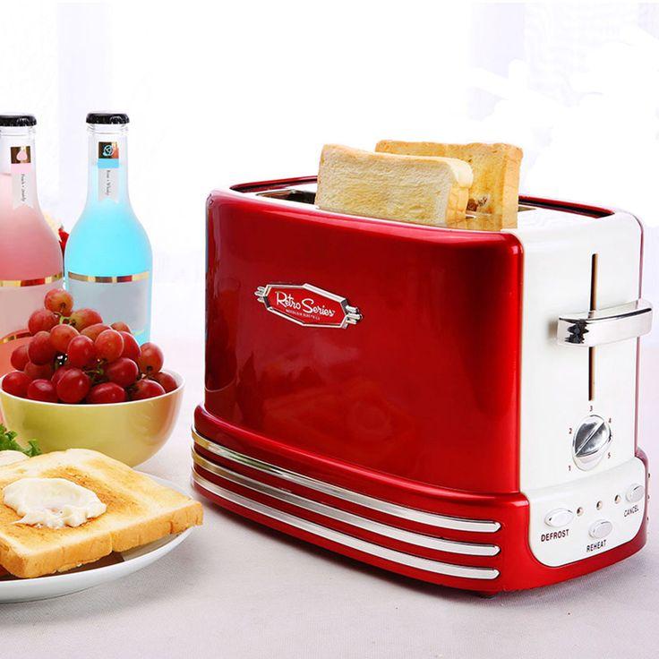 Nostalji RTOS200 50 s Tarzı 2-slice Ekmek Maker Retro Tost Ev Tost Makinesi Kahvaltı Makinesi(China (Mainland))