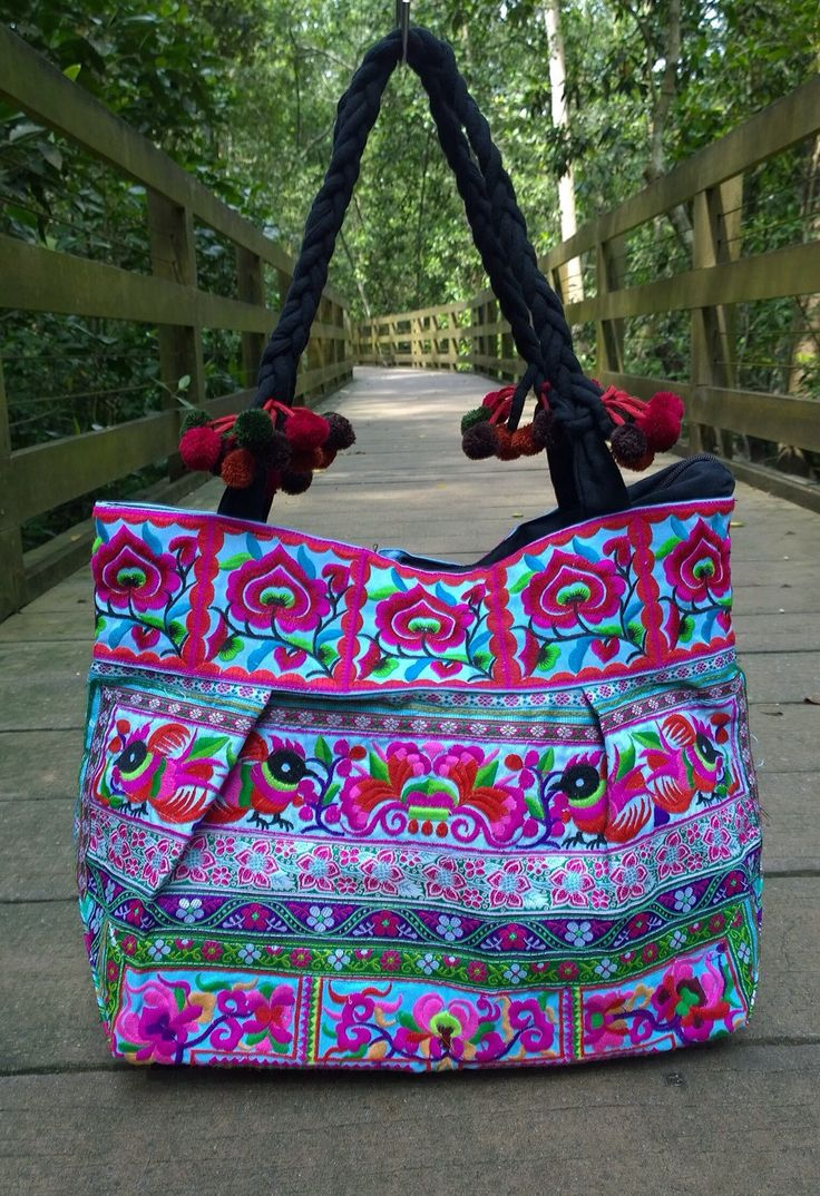 A personal favorite from my Etsy shop https://www.etsy.com/listing/242785972/hmong-boho-embroidery-tote-ethnic-bag