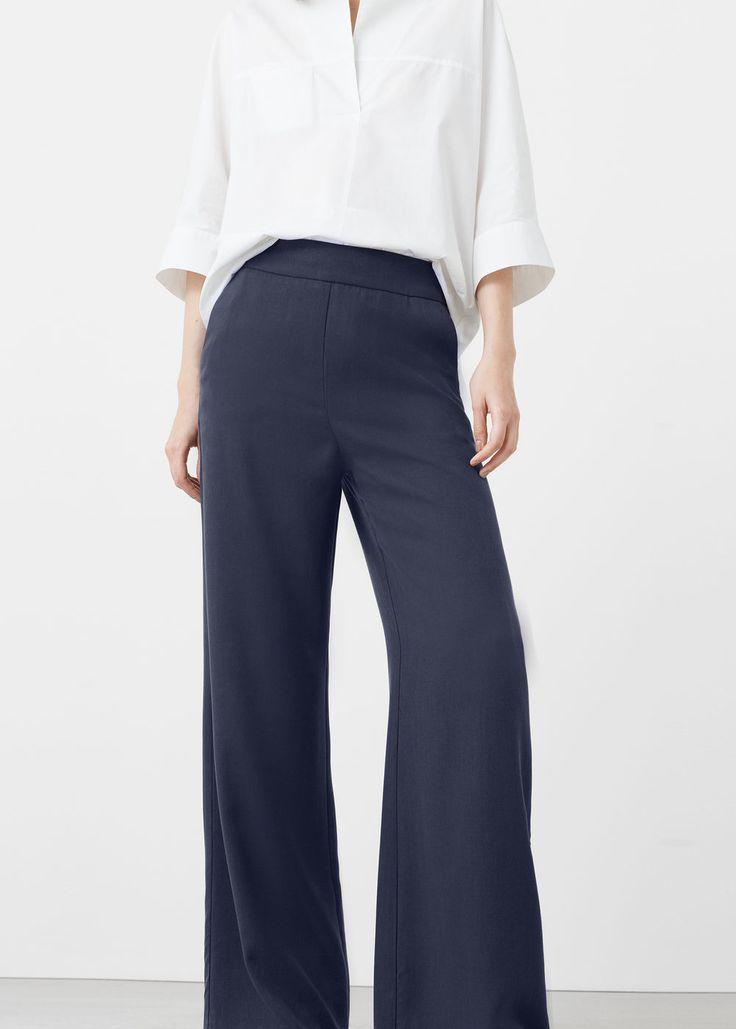 Palazzo trousers - Pants for Women | MANGO USA