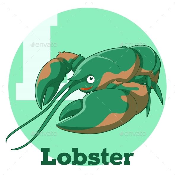 Vector image of the ABC Cartoon Lobster