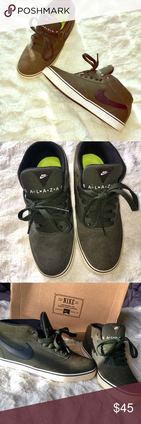 Nike Omar Salazar LR Olive Green Sneakers Super dope sneakers. Great for fall. Unisex. Men's size 7 but equals women's size 9! Great condition, only worn twice. Nike Shoes Sneakers