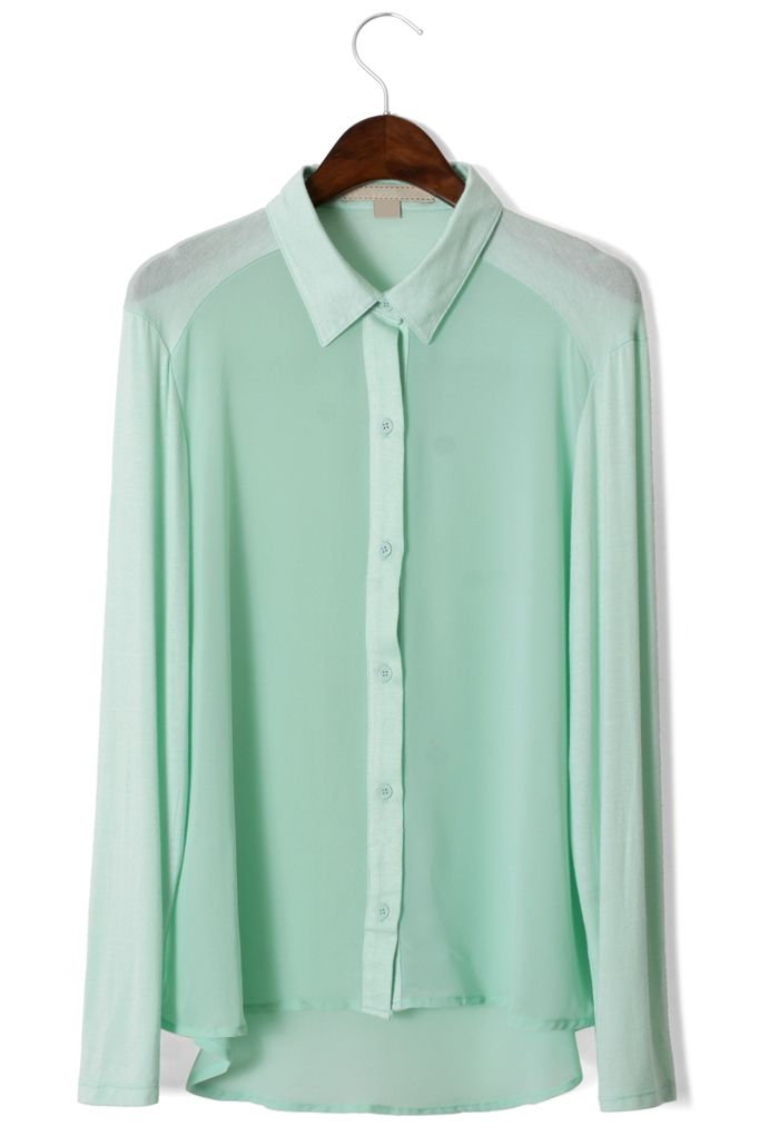 Mint Green Shirt... I REALLY WANT ONE! Go sisters find me one!
