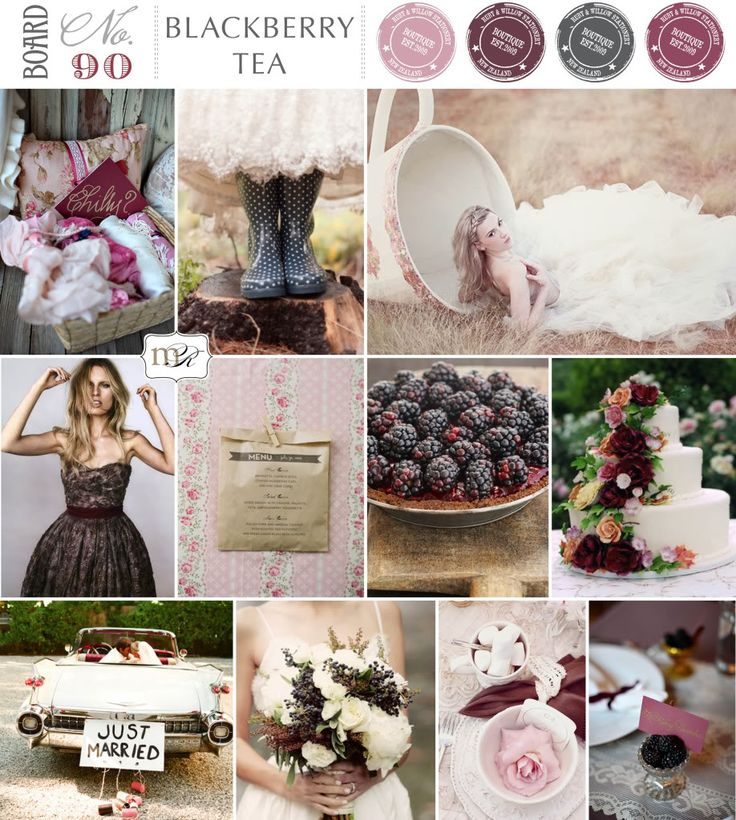 blackberry and plum wedding colors