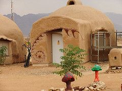 Mud dome homes in our ecocampus neighborhood on kibbutz for Diy adobe house