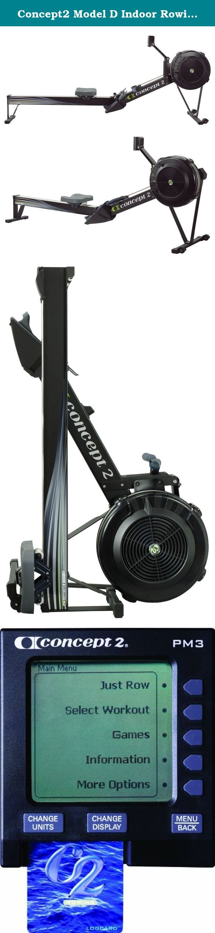 Concept2 Model D Indoor Rowing Machine with PM3 (Black). The dependable performance of the Concept2 Model D Indoor Rower has made it the bestselling indoor rower in the world. Recognized by competitive rowers as the standard for indoor training, the Model D delivers an effective cardiovascular workout that will increase your fitness level and tone your physique. At a fraction of the cost of other home fitness equipment or a yearly gym membership, you can have the luxury of working out in...