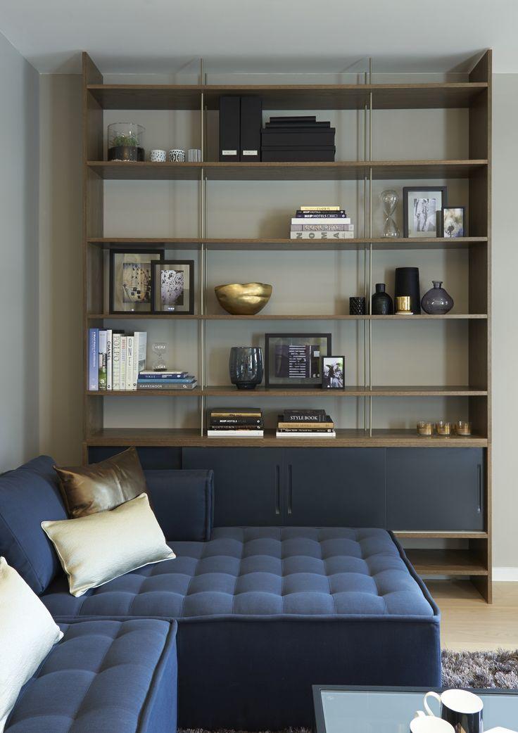 http://www.loveinteriors.co.uk/ #livingroom Bespoke bookcase #lovedetail
