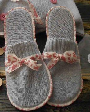 Des chaussons faits main et leur sac : un petit cadeau pas cher pour la fête des mères
