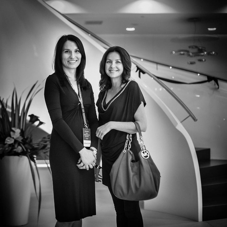 Joanna Delbar President of Telma Communications Agency and Lidia Mączyńska  PR Manager in DoubleTree by Hilton. pic. Dariusz Kulesza