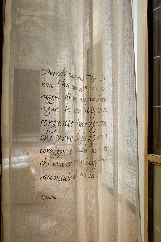 Mastro Raphael, poems, embroideries, curtains