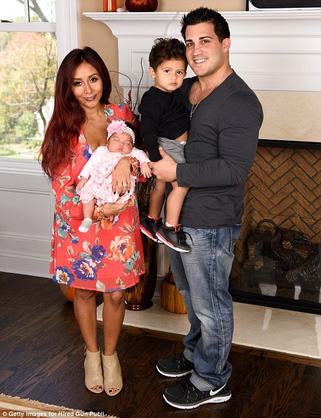 Family of four: Snooki and Jionni are parents to two-year-old Lorenzo