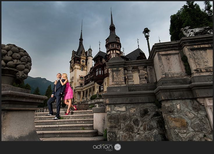 Engagement Session at Peles Castle, in Sinaia, Romania