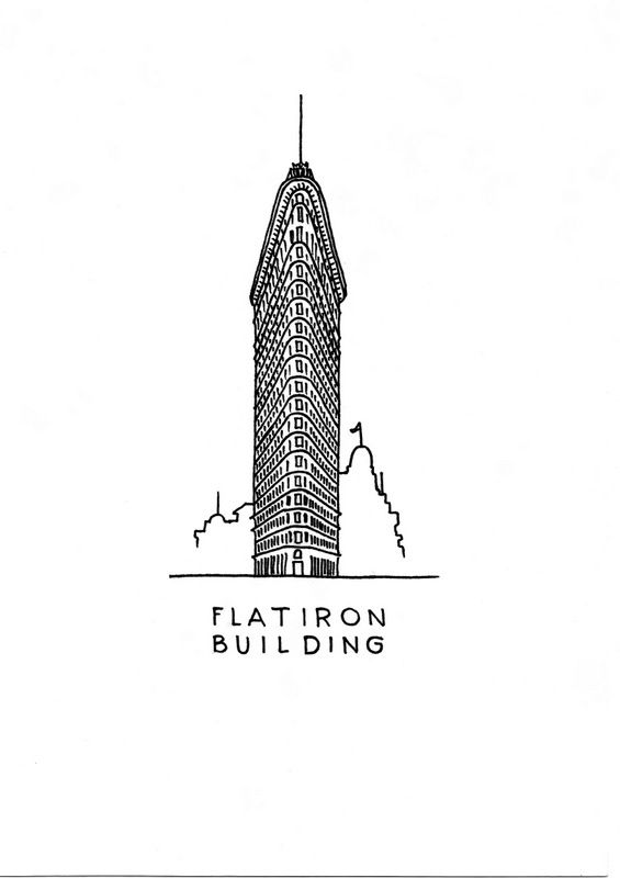 The Flatiron Building art print. A little taller, than a flatiron, but we love it the way it is. Now it's on an art print for download. #DrawTheGlobe #poster #design #drawing #art #minimalist #newyork #manhattan #flatironbuilding #architecture #ink #black_and_white #buildings #etsy