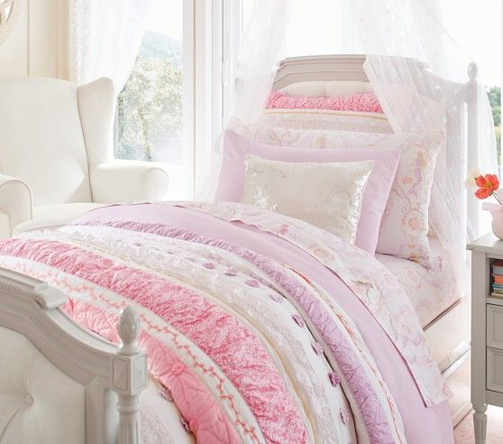 Bailey Ruffle Quilted Bedding | Pottery Barn Kids