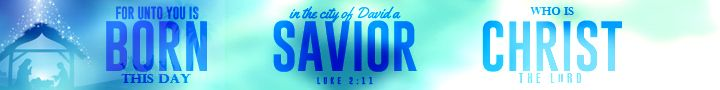 Luke 2:11 For unto you is born this day in the city of David a Savior, who is Christ the Lord.
