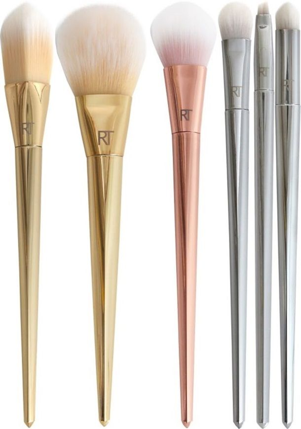 The Real Techniques Bold Metals Makeup Brush Collection, these brushes are so pretty x