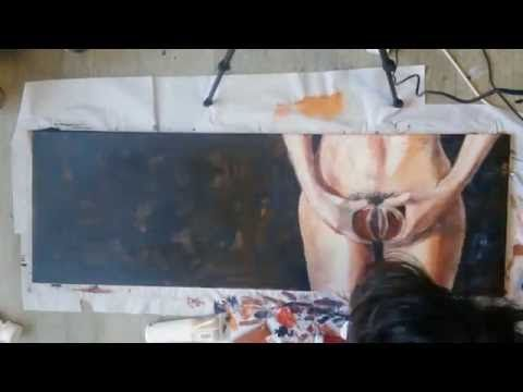 Juicy grapefruit Original painting Timelapse - YouTube