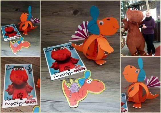 mit Liebe selbstgemacht: Der Kleine Drache Kokosnuss Paperball Bastelanleitung