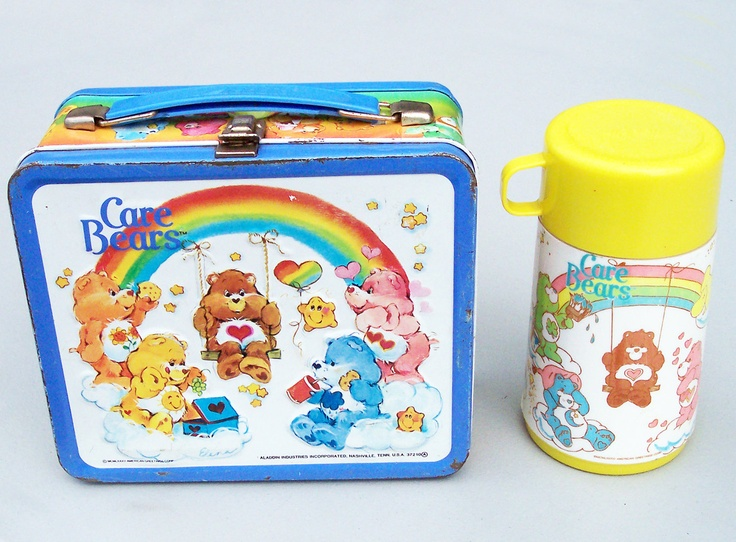 29. Vintage Care Bears Metal Lunch Box With Thermos! I had one of these as a little girl :)