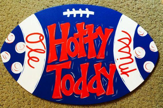 Ole Miss football door hanger by JAGARToriginals on Etsy