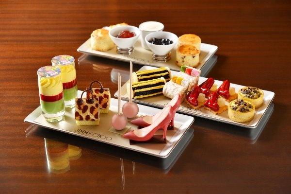 Mandarin Oriental Hotel Hongkong afternoon tea set, collaborated with JIMMY CHOO