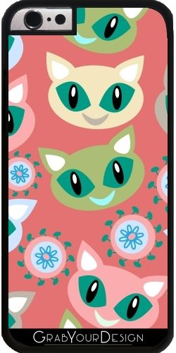 GrabYourDesign - Case for Iphone 6/6S Cats pattern - by Luizavictorya72