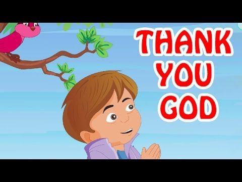 Kids Video - Thank You God   English Prayer For Kids - YouTube