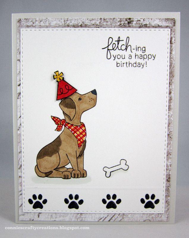 Fetching Dog Birthday Card Dog Cards Handmade Dog Themed Cards