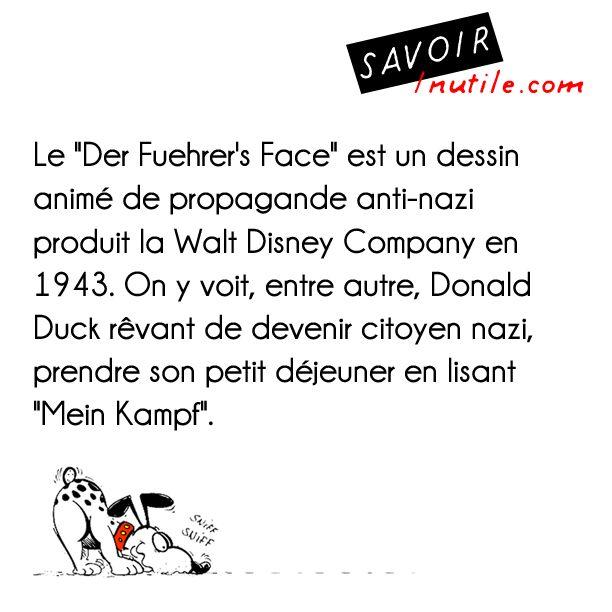 Donald Duck dans un dessin animé de propagande anti-nazi