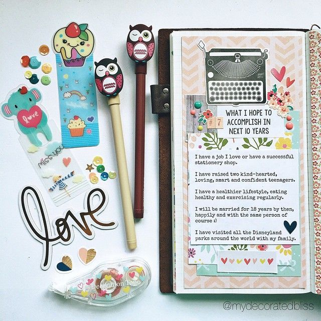 mydecoratedbliss: Catching up on @theresetgirl April challenge. Day : What I hope to accomplish in the next 10 years.