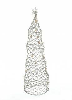 Rete da pesca conica decorata con conchiglie