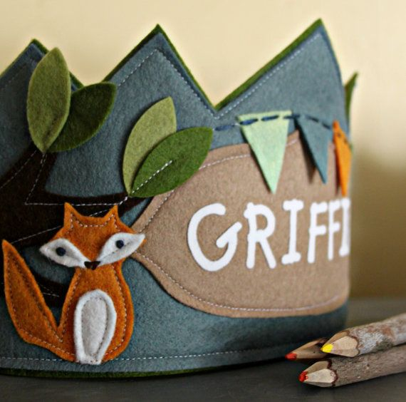 Fox and Bunting Birthday Crown by maureencracknell on Etsy