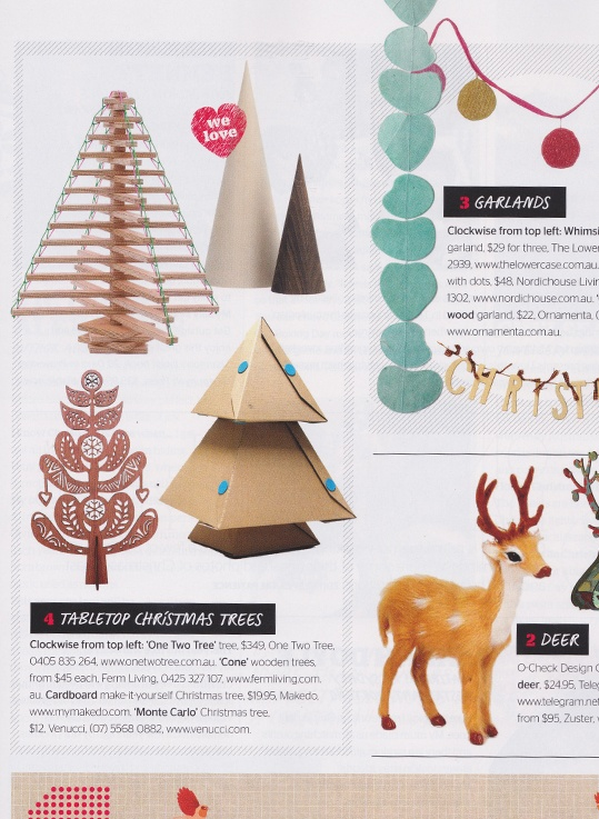 As featured in Inside Out Magazine, Summer Entertaining issue 2012 #insideoutmag #christmastree #christmasdecoratinng #christmas #tree