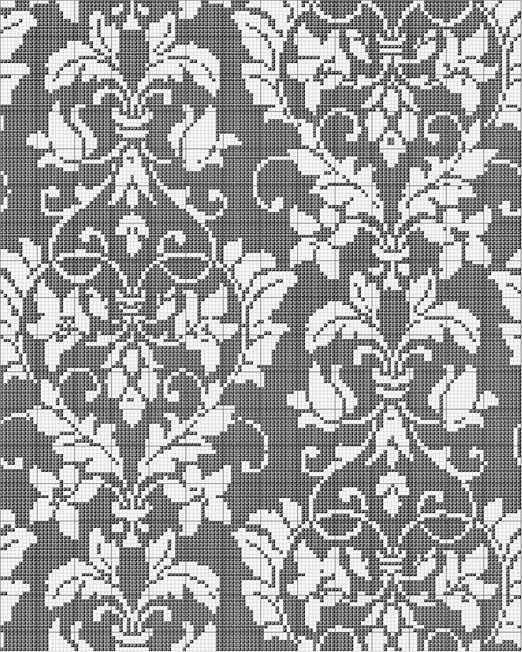 Damask Cross Stitch Pattern