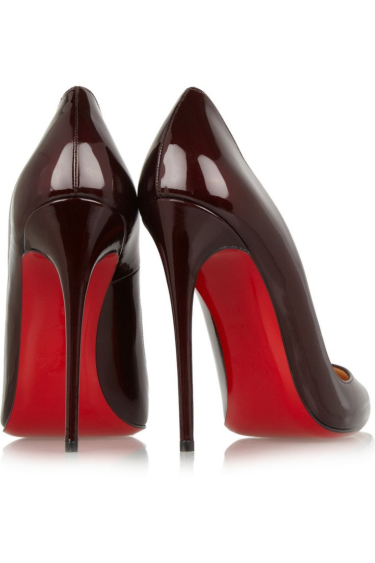 Christian Louboutin So Kate 120 patent-leather pumps. this color is  delicious.