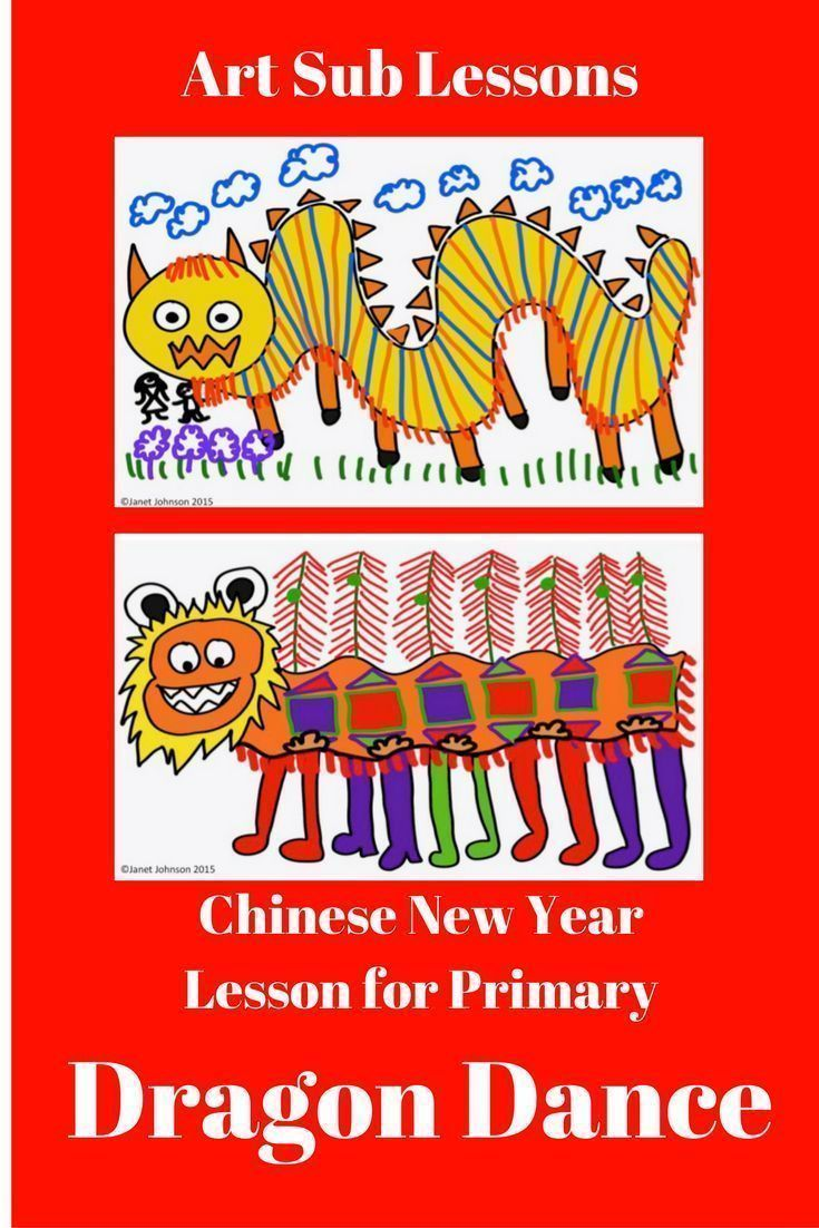 This is an art lesson for Chinese New Year geared towards kindergarten,  first grade,