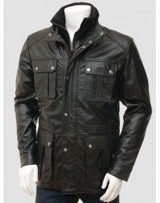 Biker Double Zipper Leather Jacket