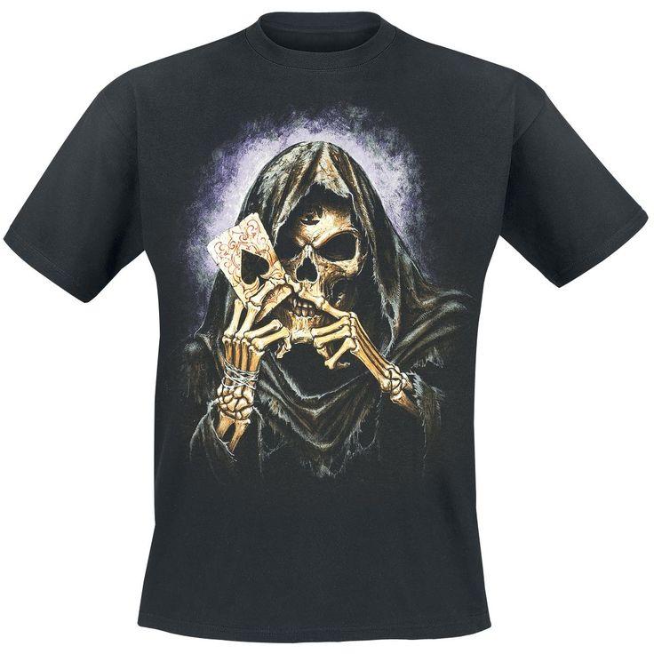 #Reaper's Ace - Camiseta por Alchemy England #skull  Novedades de #alchemyengland #tops #camisetas en #empspain la mayor tienda online de Europa de Merchandising oficial de bandas de #Metal  #rock #HardRock  #Heavy  Ropa #Gotica  #Punk - http://emp.me/BBE