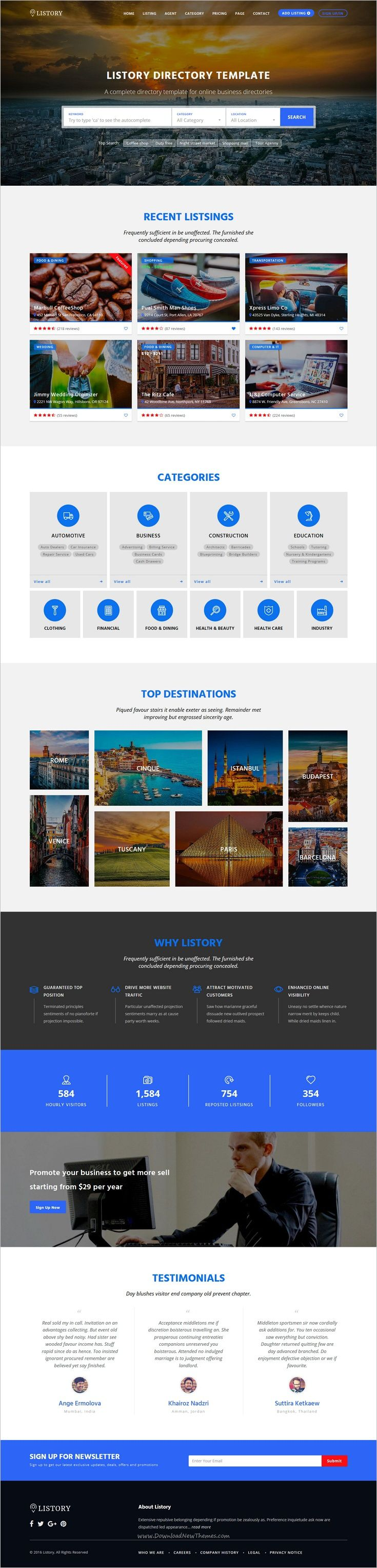 Listory is a wonderful Responsive #HTML Bootstrap Template for awesome #Directory listing or #Yellow page website with 15 unique homepage layouts download now➩ https://themeforest.net/item/listory-html-responsive-template-for-directory/19048765?ref=Datasata