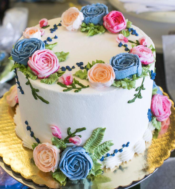 Round Birthday Cakes, Floral Cake Birthday