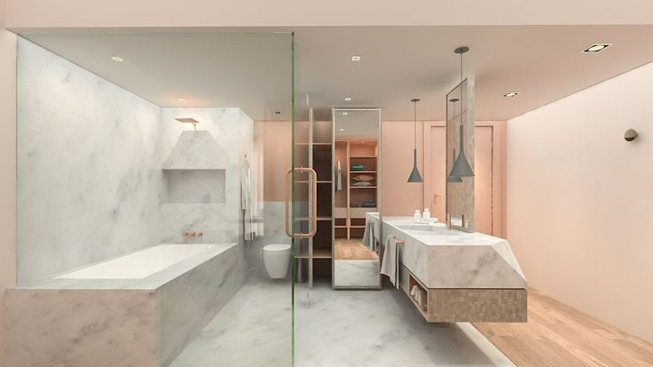 Oasis by Carve Design Studio. Wet and Dry washroom in a room with open concept