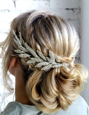 Braided updos & beautiful headpieces