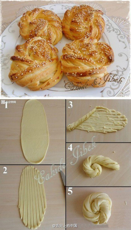 原来这种面包是这样卷出来的,学习了 |转