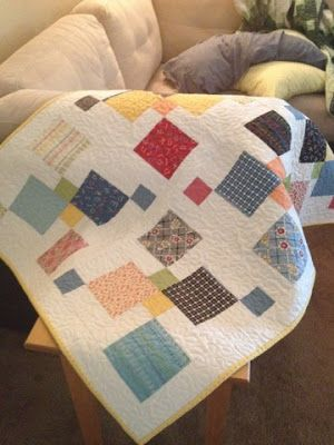 foto 6: Another Disappearing Nine Patch--Modern Style... that look like a proff quilt and so easy beginner.....