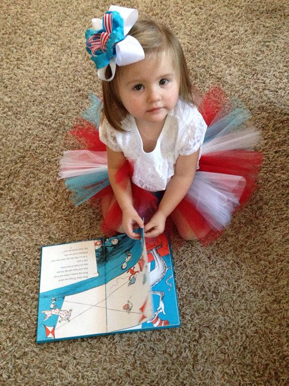 Dr Suess Cat in the Hat inspired TuTu set with by PurpleElephant84, $21.95 Reduced!