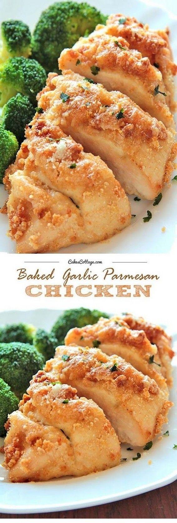 Baked Garlic Parmesan Chicken   Super Tasty Recipes
