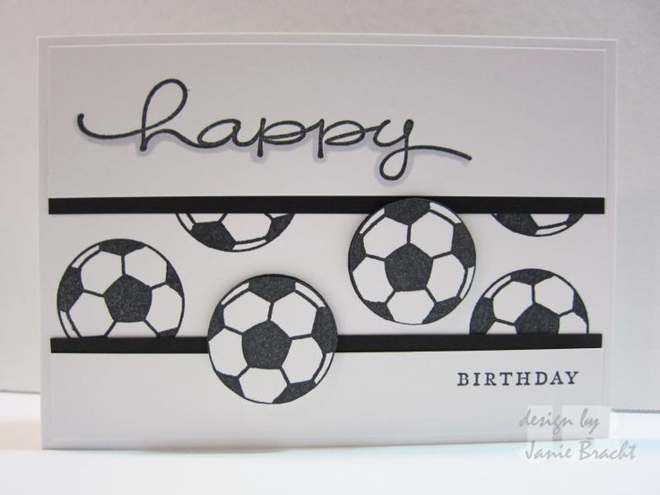 Happy Birthday - Soccer Theme by jbracht - Cards and Paper Crafts at Splitcoaststampers